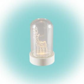 LED-es asztali dísz, szarvas, 9cm
