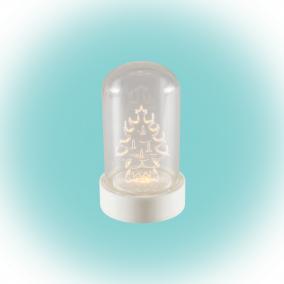 LED-es asztali dísz, fenyőfa, 9cm