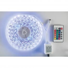 RGB LED szalag szett, 60db/m, 5m, IP44