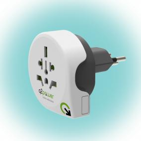 Q2 power Utazóadapter