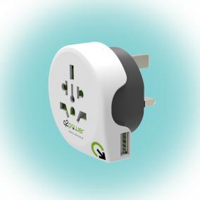 Q2 power Utazóadapter,