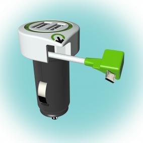 Q2 power Autós USB töltő