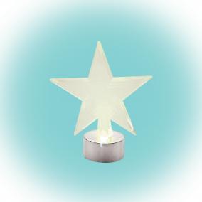 LED-es asztali dísz, csillag 10cm