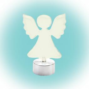 LED-es asztali dísz, angyal, 10cm