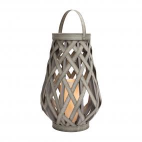 Lámpás LED gyertyával 45cm