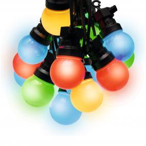 Party fényfüzér, sorolható, LED-es