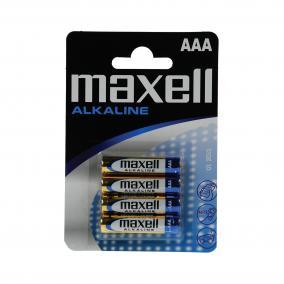 AAA elem, alkáli, 1,5V Maxell 4db