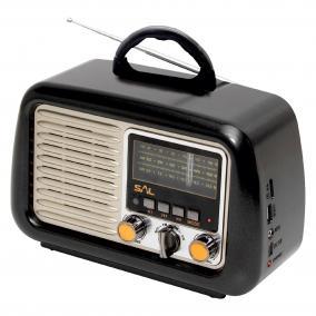 Retro táskarádió és multimédia lejátszó
