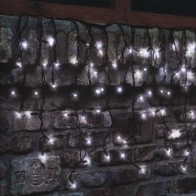 LED-es sorolható jégcsap fényfüggöny, 204db LED, hidegfehér