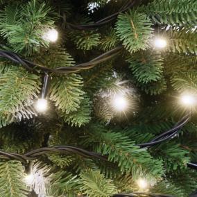 LED-es sorolható, villogó fényfüzér, 50db LED, melegfehér