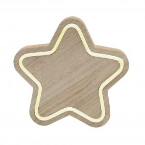 Fa asztali dísz, csillag 22cm