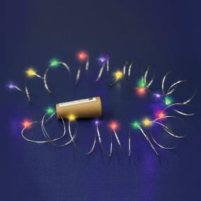 Mikro LED-es fényfüzér, színes, 2m