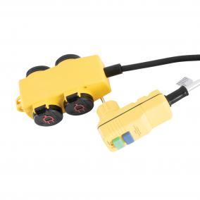 Kültéri 4-es elosztó kapcsolóval, RCD dugóval