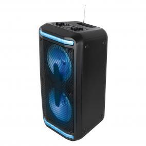 Hordozható party hangdoboz, beépített akkumulátorral és LED fénnyel