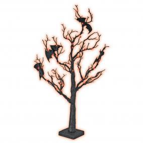 Halloween fa, denevérekkel, 70cm
