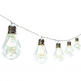 LED-es villanykörte fényfüzér 3m LED kültéri melegfehér