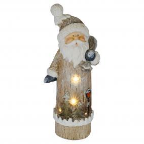 LED-es kerámia figura, télapó LED-es, 65cm