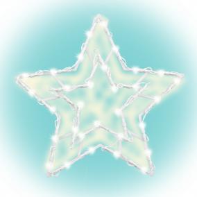 Csillag ablakdísz 35LED, 33x33cm, időzítés