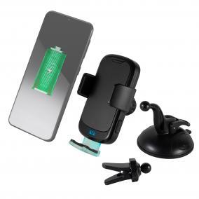 Mobiltartó és vezeték nélküli töltő