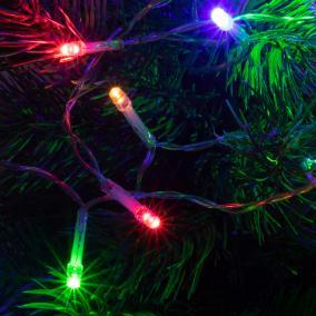 LED-es mini fényfüzér, 8 program, 4,9m, színes