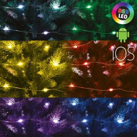Micro-LED-es SMART fényfüzér, RGB, 20m