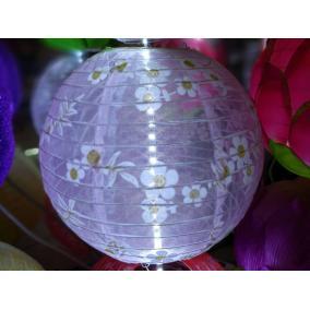 Lampion   #lila színű, virágos mintás