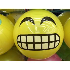 Smiley mintás gumilabda többféle 22cm