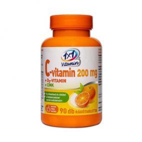 1x1 Vitaday C-vitamin+D3+Cink narancs ízű rágótabletta [90 db]
