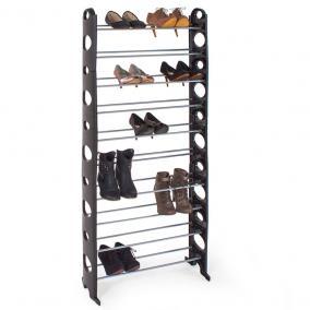 Cipőtároló 10 sor/30 pár, 156x65x18cm, fekete