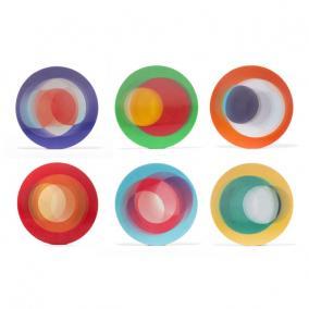 3D poháralátét, színes [6 db]