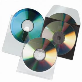 CD tartó zseb, kiszedő réssel, öntapadó, 127x127 mm, 3L [10 db]