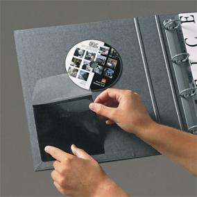 CD tartó zseb,antisztatikus béléssel, öntapadó, 127x127 mm, 3L [10 db]