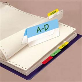 Jelölő ikercímke, műanyag, kétoldalas, 4x6 lap, 12x40 mm, 3L vegyes [24 lap]