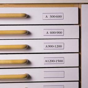Címketartó zseb, 30x150 mm, fiókhoz, 3L [10 db]
