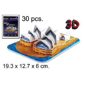 3D Puzzle - Sidney-i Operaház - 30db