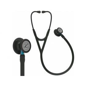 Fonendoszkóp Littmann Cardiology IV fekete, fekete fej + hallgató, kék csőszár 6201