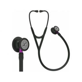 Fonendoszkóp Littmann Cardiology IV fekete, fekete fej + fejhallgató, ibolya csőszár 6203