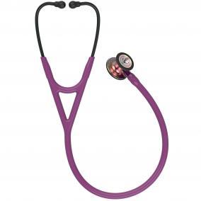 Fonendoszkóp Littmann Cardiology IV szilvakék, szivárvány fej, fekete hallgató, ibolya cső 6205