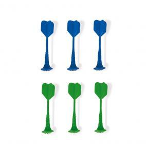 6 darabos mágneses darts (zöld és kék) 02078 Janod