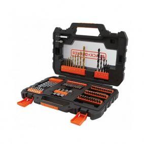 76 db-os fúrószár és csavarozófej készlet + easy grip tok - Black and Decker, A7231-XJ