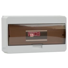 ANCO Falonkivüli biztosítéktábla 12/1 N/PE sínnel