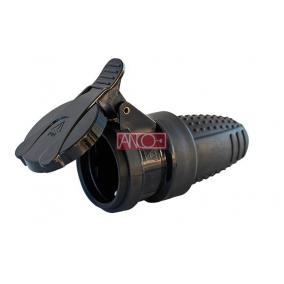 ANCO Földelt gumi dugalj fedéllel, IP44