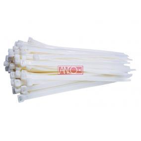 ANCO Kábelkötegelő 3.5mmx200mm, fehér [100 db]
