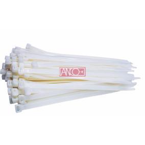 ANCO Kábelkötegelő 7.5mmx 400mm, fehér [25 db]
