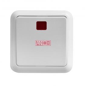 ANCO Porto 1 pólusú kapcsoló jelzőfénnyel, fehér