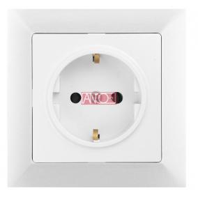 ANCO Premium 1-es földelt dugalj, fehér