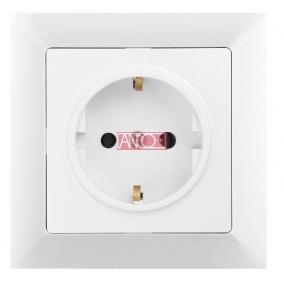 ANCO Premium 1-es földelt dugalj, kerettel, fehér