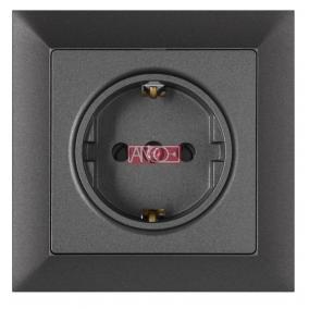 ANCO Premium 1-es földelt dugalj, kerettel, grafitszürke