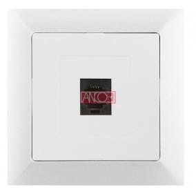 ANCO Premium LAN- vagy telefon aljzat, fehér