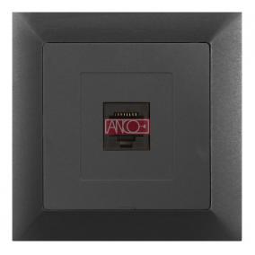 ANCO Premium LAN- vagy telefon aljzat, grafitszürke